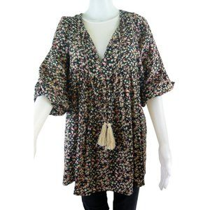 EASEL Floral Print Top - Dress Size M (NEW)